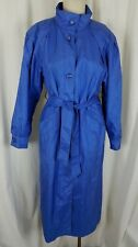 Vintage J Gallery Funnel Neck Belted Cape Top All Weather Trench Coat Womens 8P