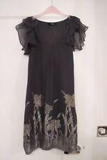 Oasis Grey Sparkle Dress Size 6