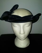 Stunning VINTAGE 1980'S C&A Navy & White Hat Wedding Good condition