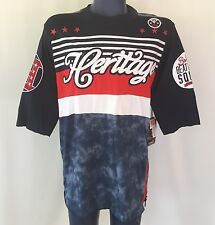 Heritage Jersey T-shirt Mens LARGE Red White & Blue-Celebrate July 4th Patriotic