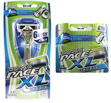 Dorco Pace XL1 Razor + 4 Cartridges Refills  Total 6 Blades BRAND NEW SEALED