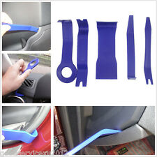 5 Pcs Vehicles Door Plastic Trims Panel Dash Installation Removal Pry Tools Blue