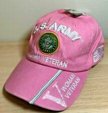 Official Licensed U.S Army Woman Veteran Wash Cotton Vet Hat Cap