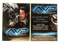 Alien V Predator Promo Card P-i