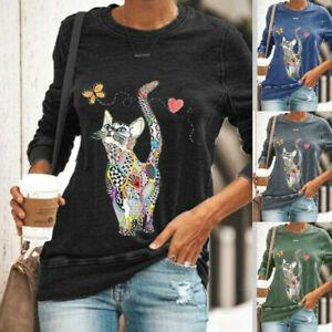 Womens T-Shirt Loose Long Sleeve Ladies Sweatshirt Pullover Casual Blouse Tops