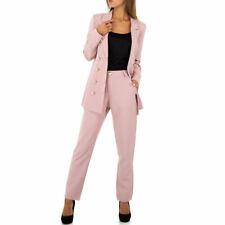 Damen chic Business Freizeit Anzug Jacke Blazer Gelb Weiß Blau Pink 34-46 BC608