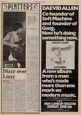Daevid Allen Soft Machine Gong UK show advert 1976