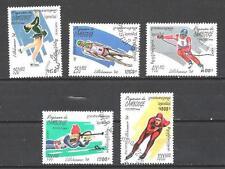 JO Hiver Cambodge (5) série complète de 5 timbres oblitérés