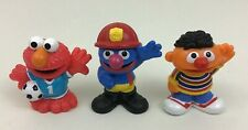 Sesame Street Toy Figures Firefighter Grover Ernie Elmo  3pc Lot Hasbro 2010