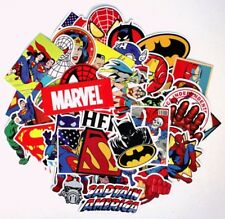 Superheroes Decal Stickers Assorted Lot of 50 Pieces