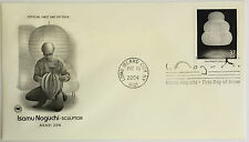 10 USPS PCS Isamu Noguchi 2004 37c Stamp FDC 3857 First Day Issue NEW