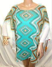 060b5ebd5336f Ruby Rd. Women Plus 1x Lined Sequin Chiffon Green Beige Tunic Top Blouse  Shirt