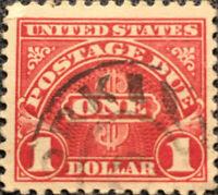 Scott #J77 US 1930 One Dollar Postage Due Stamp XF