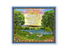 Religious The Lord Is My Shepherd Psalm Jesus God Cotton Fabric QT 35