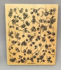 Stampin Up Background Stamp - 2000 - Ivy Vines Retired mounted rubber art mixed