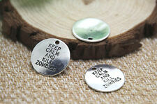 20pcs- keep calm and kill zombies Charms Silver disc walking dead penant 20mm