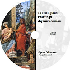 * 101 RELIGIOUS PAINTINGS COMPUTER JIGSAW PUZZLES GAME ON CD * RELIGION CHURCH