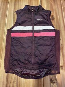 Men's Brevet Gilet Vest in Burgundy/Hi Vis Pink Large USED in GOOD Condition