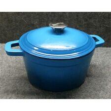 BergHoff 3 Quart Cast Iron Covered Dutch Oven, Blue 2211288A