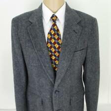40 L Charles Klein Gray Multicolor Tweed Wool 2Btn Mens Jacket Sport Coat Blazer