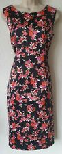 F&F floral silky sleeveless shift dress size 14 occasion evening smart