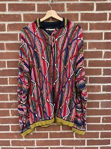 Vintage Coogi Sweater With Collar And 4 Buttons Made In Australia XL