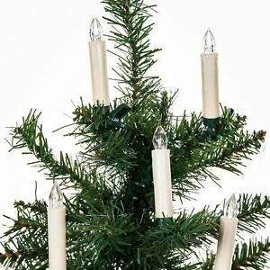 10 LED Kerzen Lichterkette Tannenbaum Weihnachtsbaum Beleuchtung kabellos