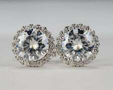 1.50 Ct Solitaire With Aaccent Studs Diamond Earring  14k White Gold Finish