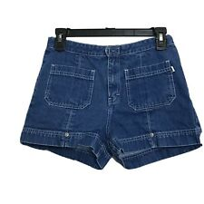 Tommy Hilfiger Girls Denim Shorts Size 16 100% Cotton Hook and Loop Closure
