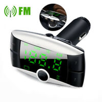 Wireless Bluetooth Car USB Fast Charger FM Transmitter Radio Adapter MP3 Player