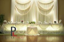 "VOILE CHIFFON SHEER WEDDING CURTAIN 6ft DRAPE PANEL BACKDROP 72"" x 118"" IVORY"