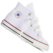 b59dfc4bcd7 Converse Chuck Taylor All Star Infant Optical White Textile Trainers 9 UK  Child   25 EU