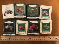 Hallmark ornament miniature, lot 8 Antique Tractors, 100% Proceeds To Charity