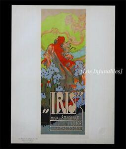 [ART NOUVEAU] Les Maîtres de l'Affiche Adolf Hohenstein Opera Comique Iris 1899