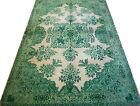 "Vintage Oriental Carpet - Handwoven Silk Pile - 79""W x 130""L - Mid 20th Century"