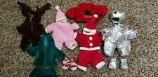 Lot of Beanie Babies Bear clothes Santa Suit Astronaut Suit Moose & shoes