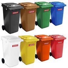 2 SULO Abfalltonne Mülltonne Tonne Müllbehälter 240 Liter gelb