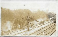 Train Wreck PA Handsome Vintage RPPC Real Photo Postcard unused