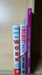 SCOTT ADAMS - LOT OF 3 BOOKS: THE DILBERT PRINCIPLE, JOY OF WORK, SEVEN YEARS +