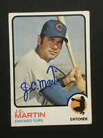 JC Martin Cubs signed 1973 Topps baseball card Semi High #552 Auto Autograph 3