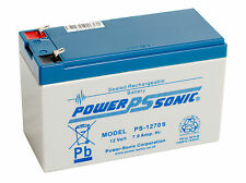 PS-1270 Power-Sonic 12 volt 7Ah Rechargeable Lead Acid 12 V PS1270 Battery