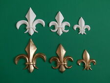 Decorative Resin Moulding Fleur de Lys small medium large - plain or gold colour