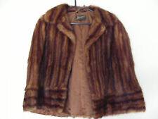 Harrods Vintage Muskrat Fur Evening Cape SIMPLY STUNNING!