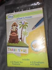 Disney Lion King Sweet Circle of Life Thank You Notes - Baby Party Supplies