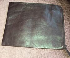 NEW Phillip Lim 3.1 Metallic Green Leather iPad mini Tablet Case Clutch Sleeve
