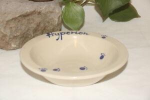 keramik-im-hof Futtertellerchen mit Wunschname Napf Schüssel, Katze Hund