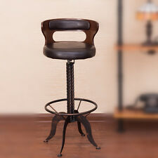 RUSTIC INDUSTRIAL RETRO VINTAGE METAL KITCHEN COUNTER CHAIR BAR STOOL BACKREST