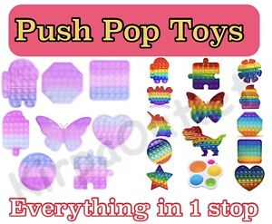 Push Pop Fidget Toy It Bubble Rainbow and Colour Changing in Sun Fidget Spinners