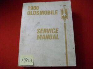 1980 FACTORY OLDSMOBILE SERVICE MANUAL 98 88 STARFIRE TORONADO CUTLASS & MORE