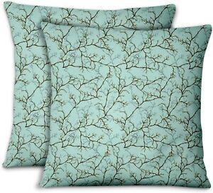 S4Sassy Green Velvet Dry Branches Pillow Case Sofa Cushion Cover-Se7
